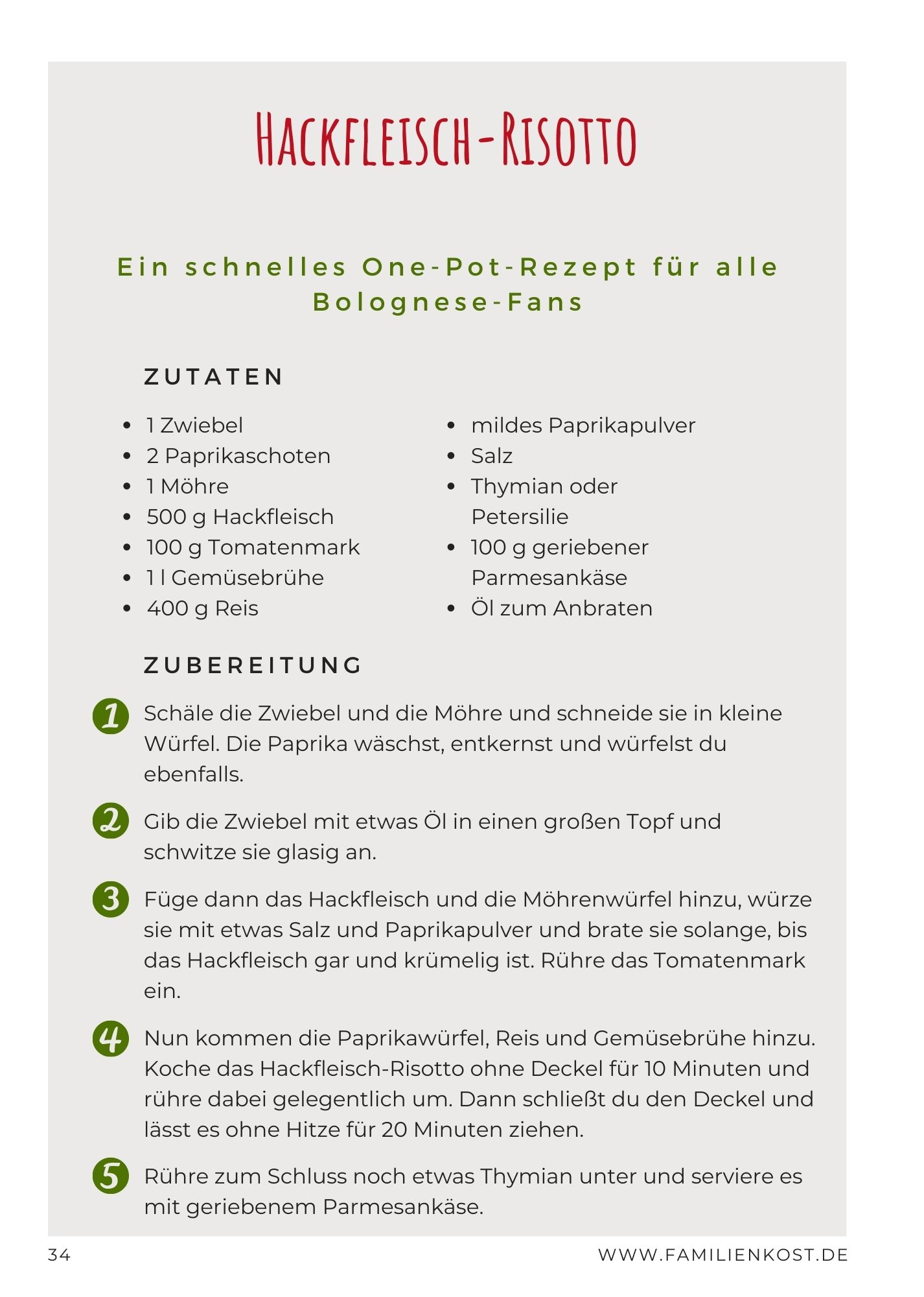 Familienkost: Mein Familienkochbuch by Jenny Böhme