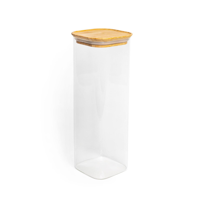 Aufbewahrungsglas, Modell: eckig, Größe: 30x10cm, 2250ml