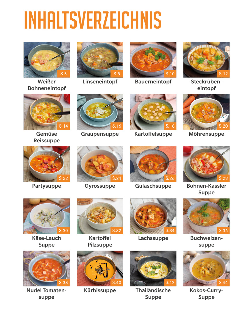 Suppenzeit: Leckere Suppen und Eintöpfe aus dem Thermomix®