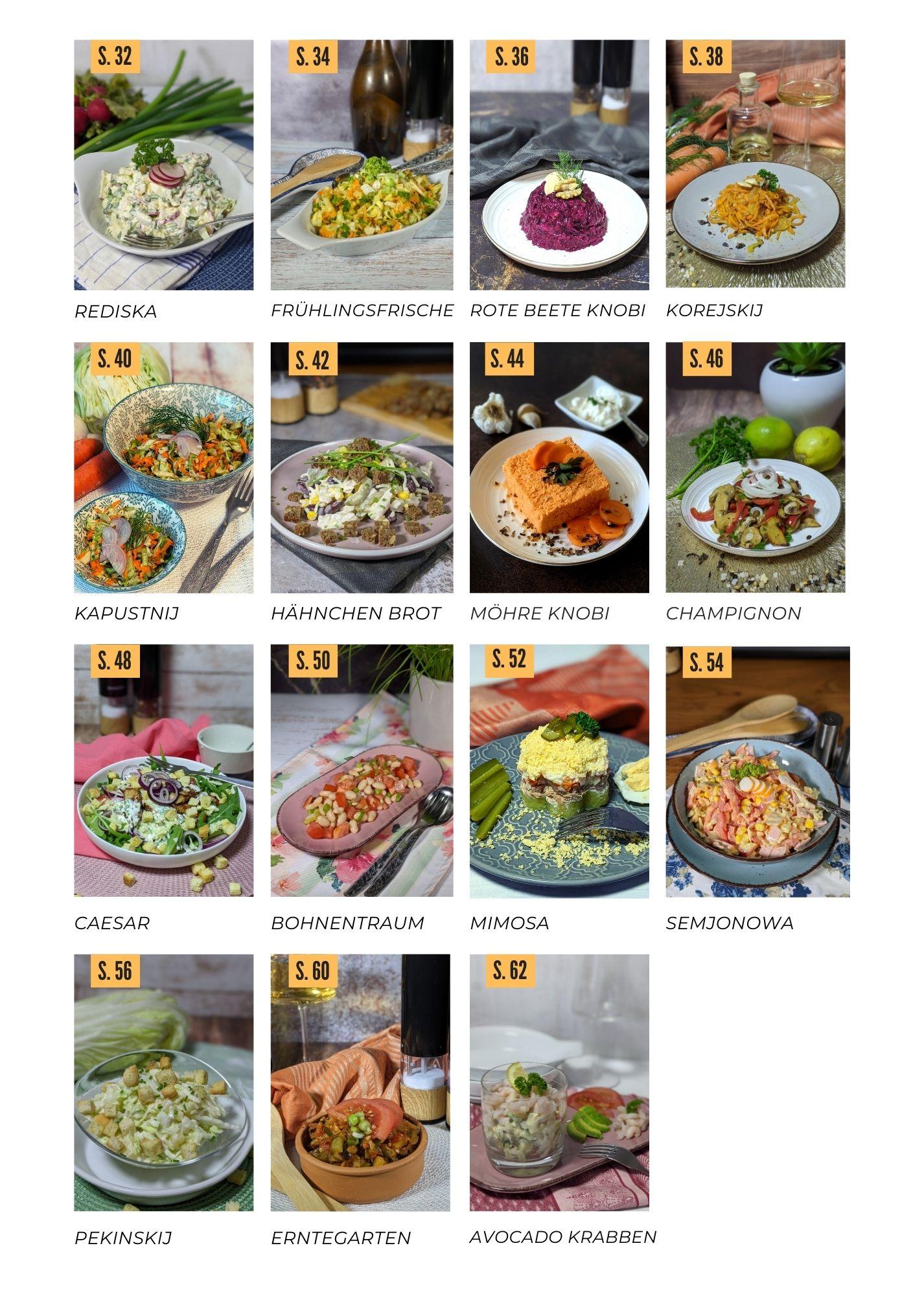 Kuchnja: Salatiki - 27 russische Salate by Maggie Rittscher