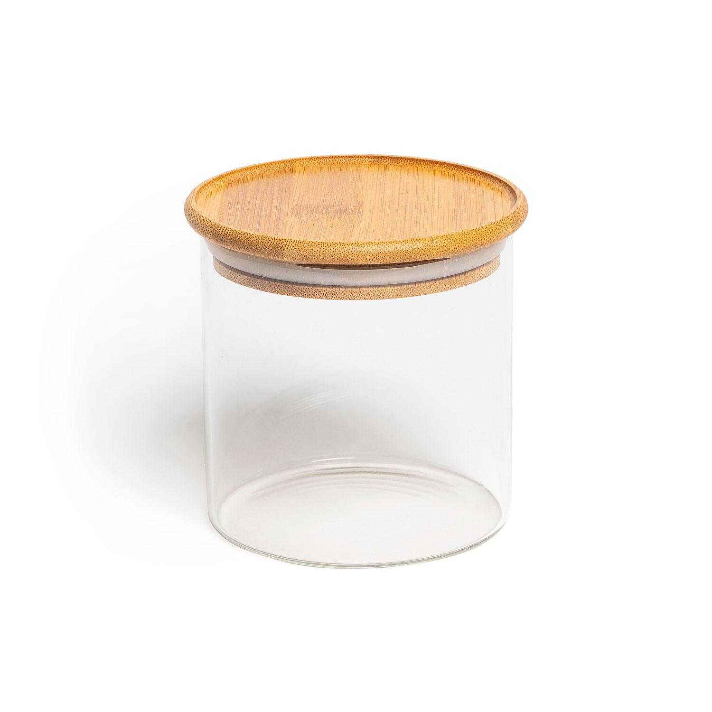 Aufbewahrungsglas, Modell: rund, Größe: 10x10cm, 600ml
