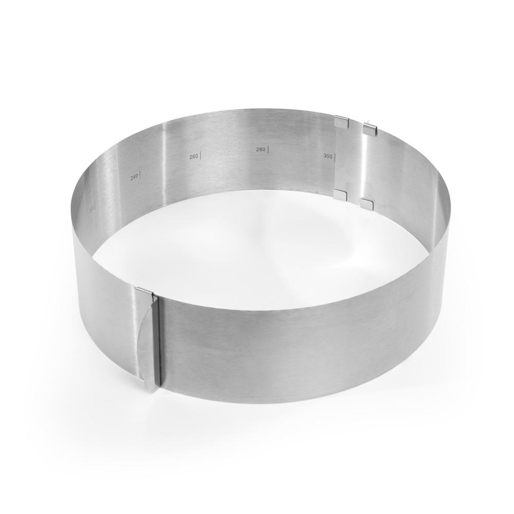 Verstellbarer Tortenring, rund aus Edelstahl