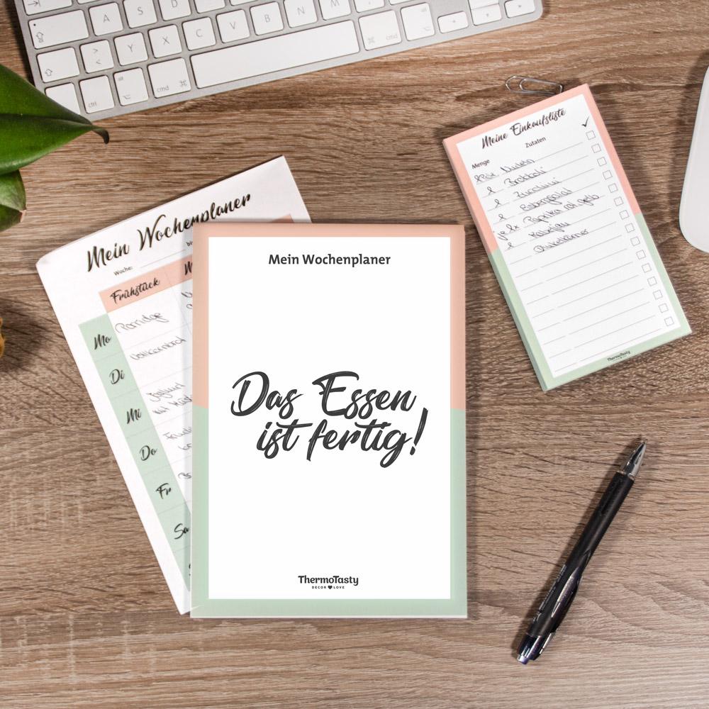 Mein Wochenplaner / Meine Einkaufsliste, 2er-Set