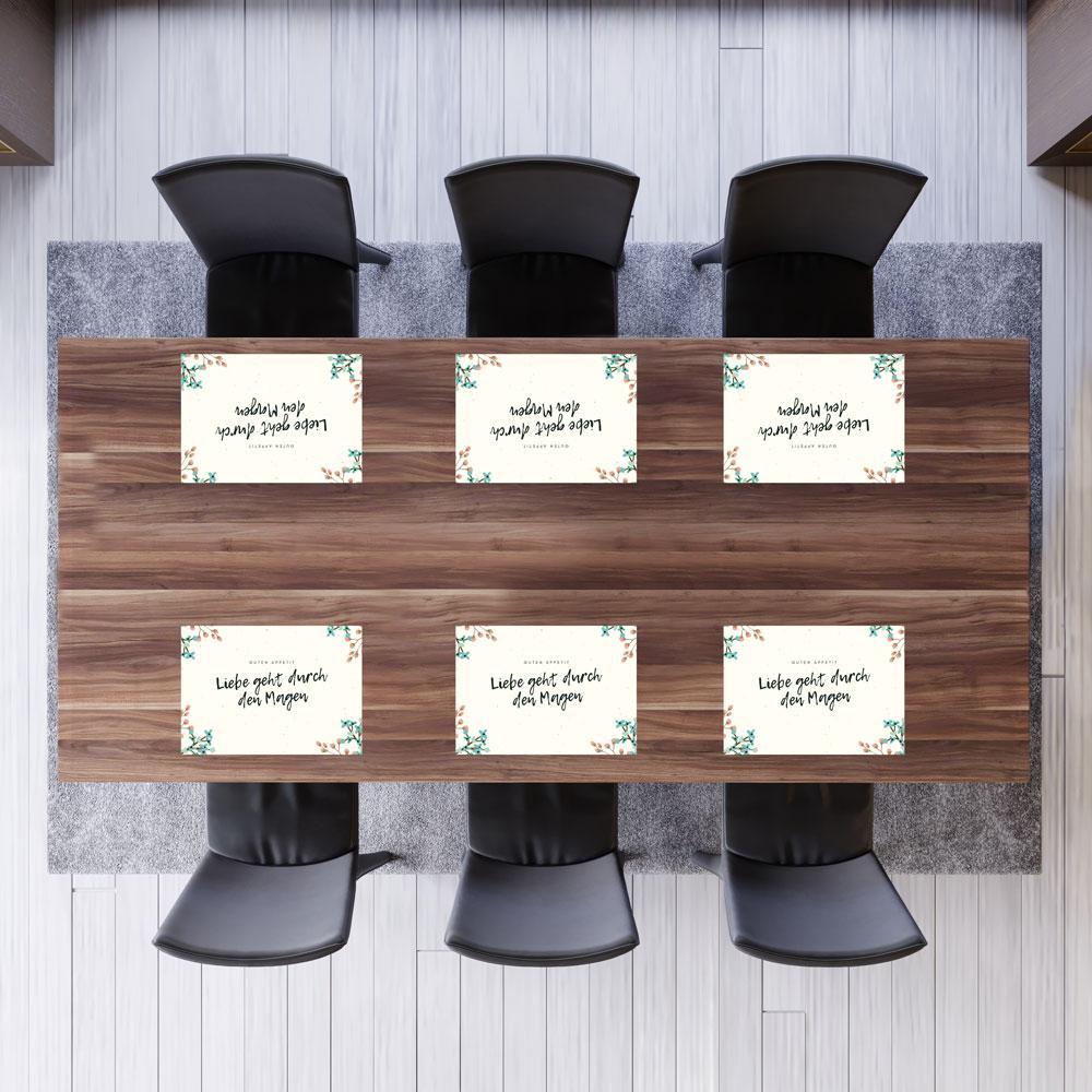 Recycling Papier-Tischsets, 2 Motive, 50 Blatt